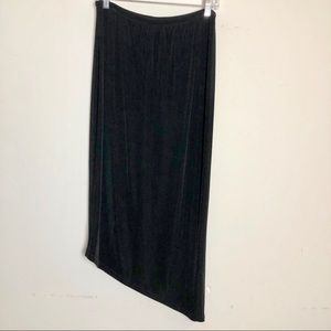 Chico's travelers black slinky style skirt size 1